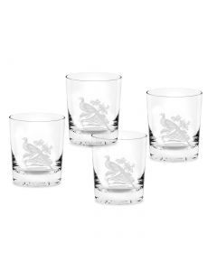 Spode Glen Lodge Pheasant Double Old Fashioned Set of 4