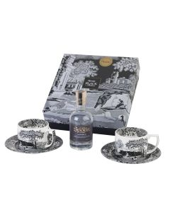 EXCLUSIVE Black Italian 20cl Gin and Teacup Set