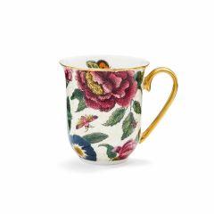 Creatures of Curiosity Cream Floral Mug