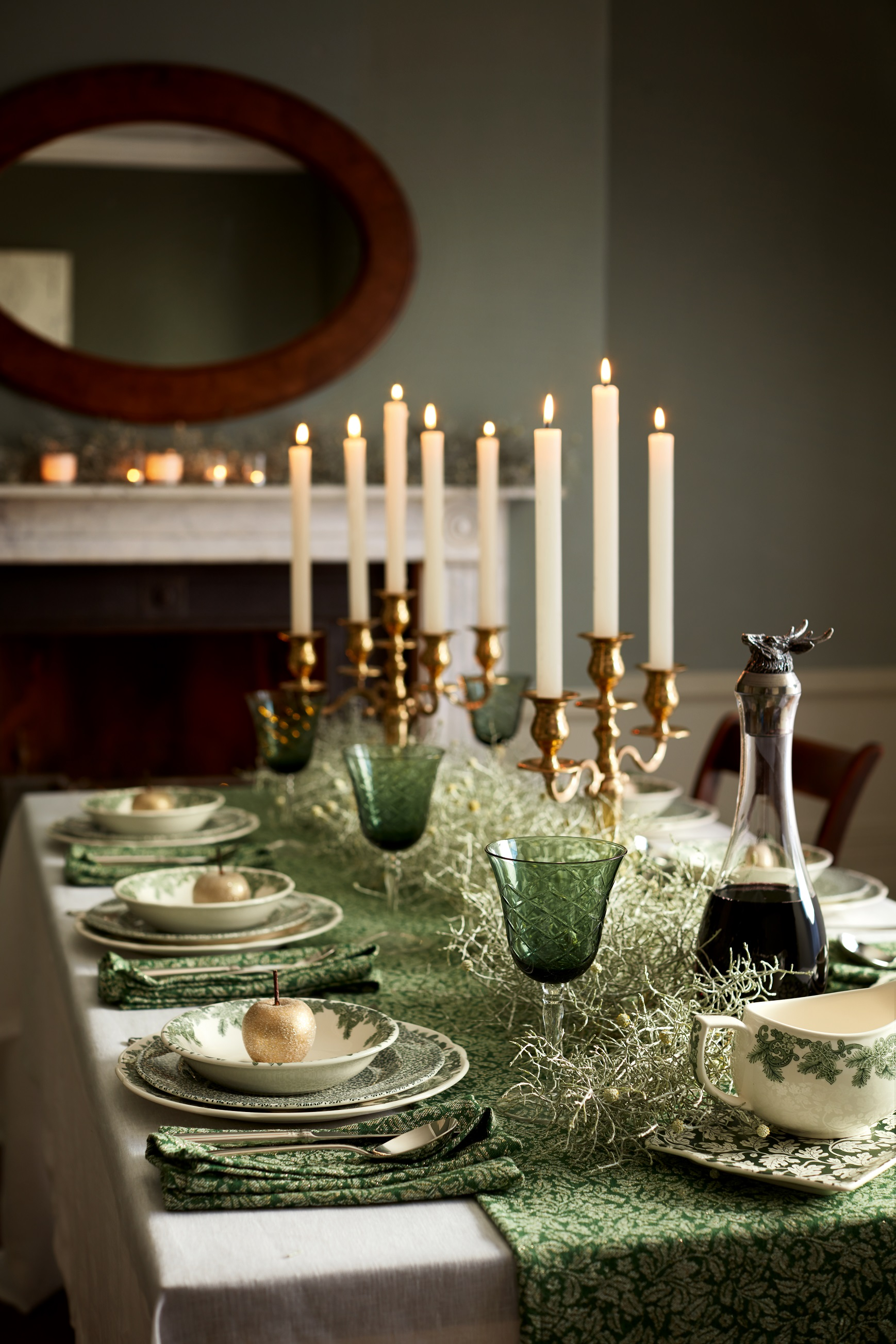 Spode Ruskin House Tablescape