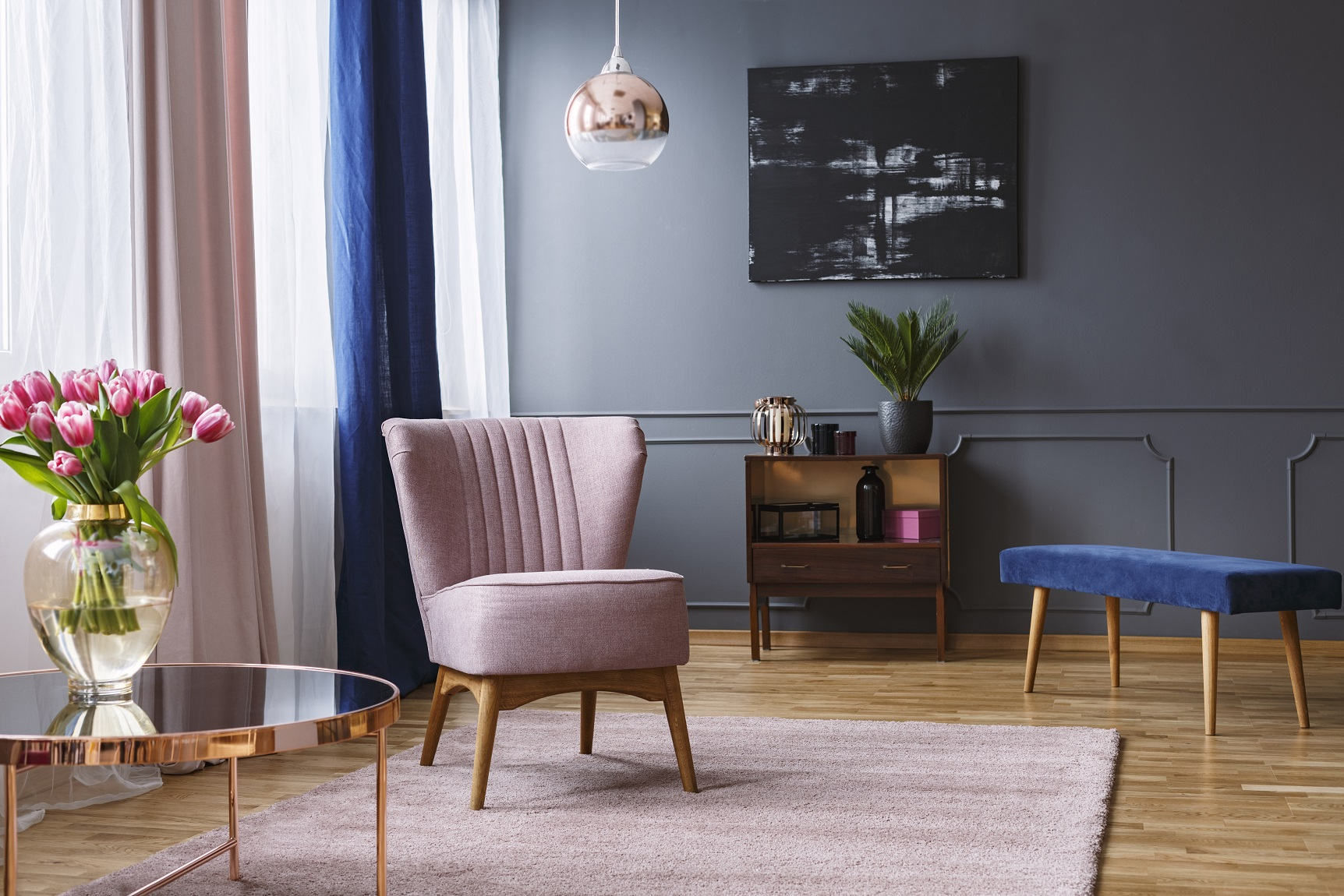Blue and Pink Room Decor