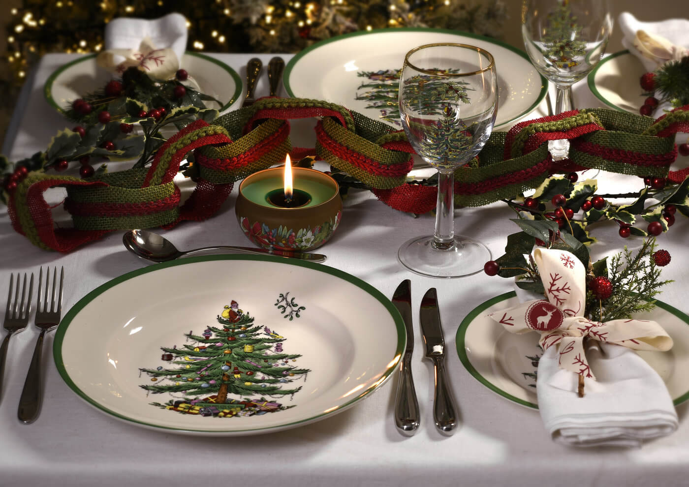 Christmas Tree Place Setting