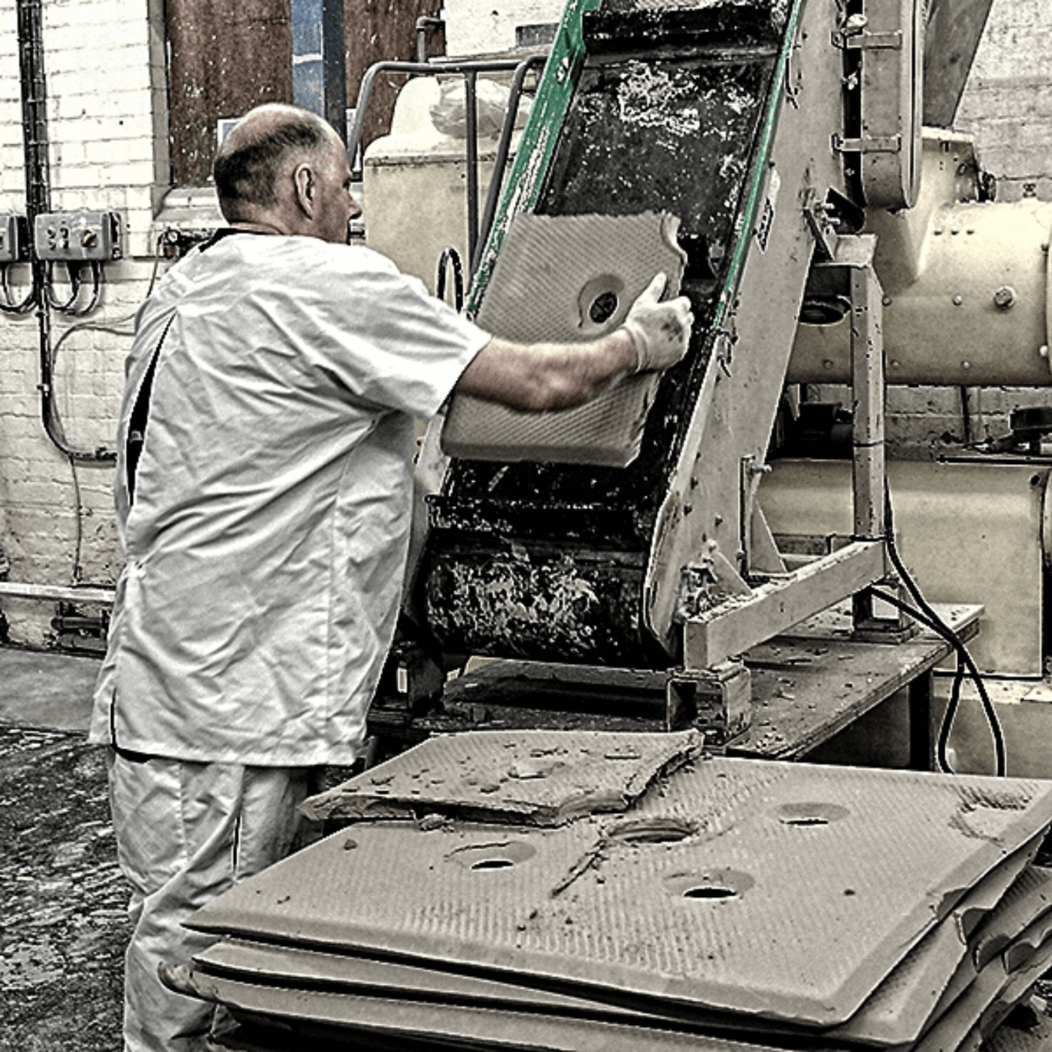 Spode Factory Clay Slabs Process