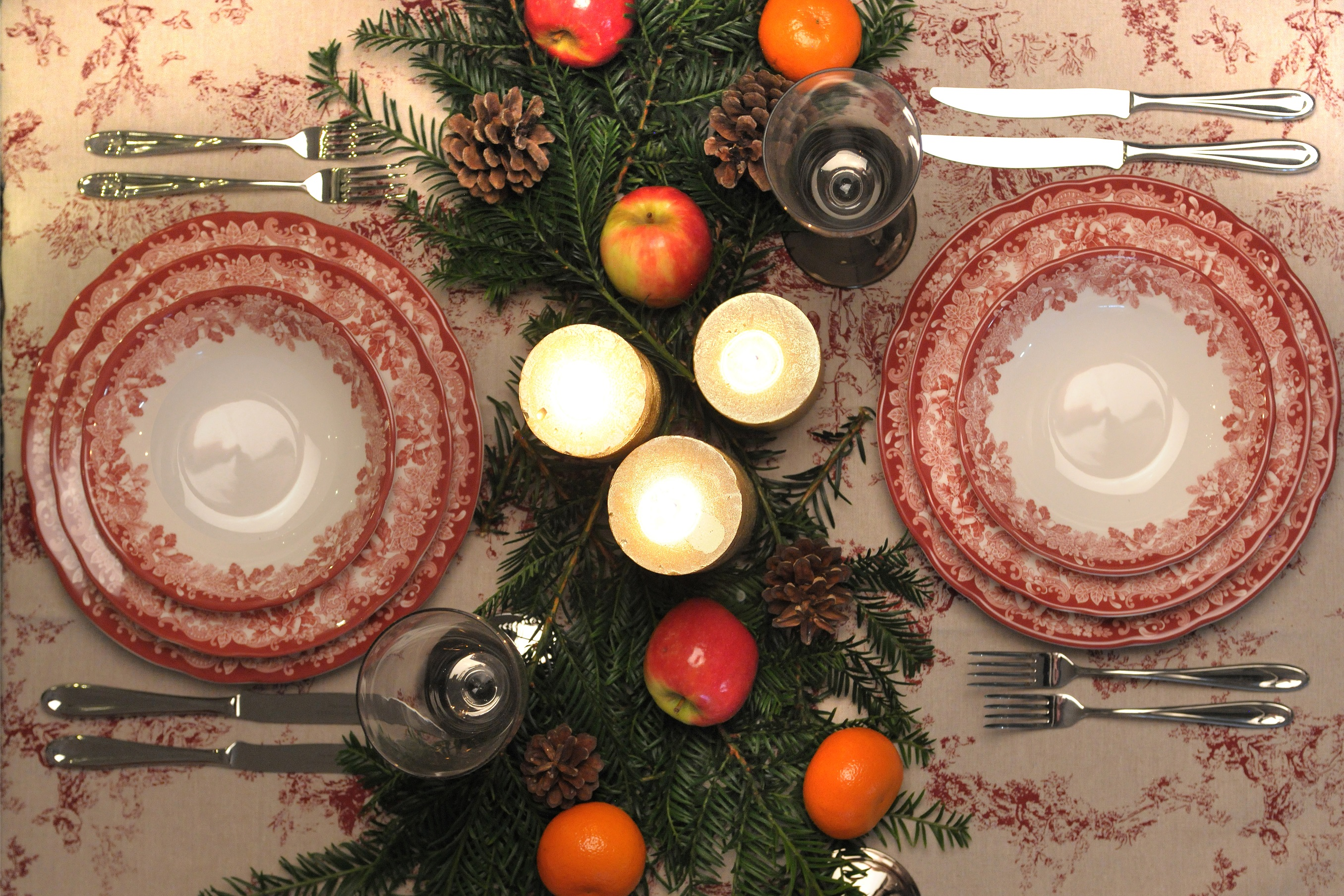 Winters Scene Table Setting