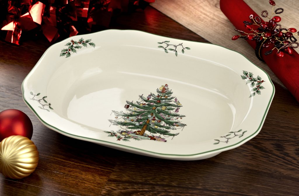 Christmas Tree Serving Pieces
