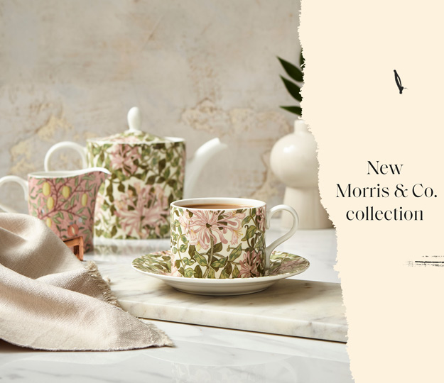 Add a beautiful, heritage touch to your home with NEW Spode X Morris & Co.